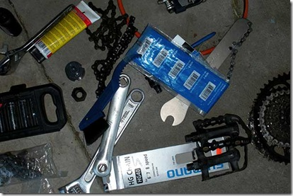 Bike Tools On Floor